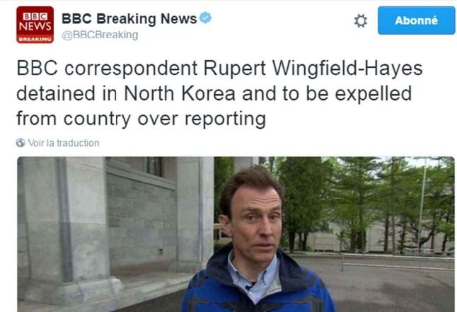 La Corée du Nord arrête et expulse un journaliste de la BBC