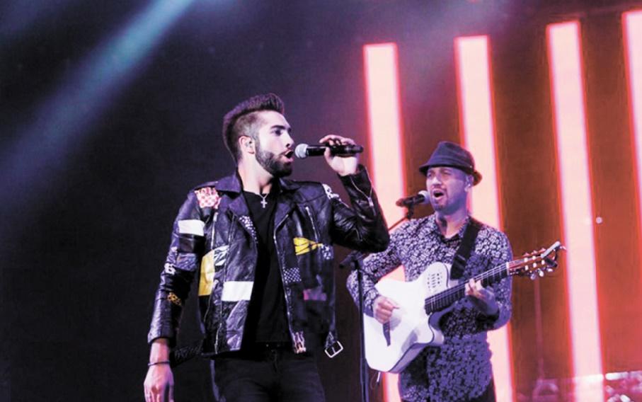 Kendji Girac pousse la chansonnette à Mawazine