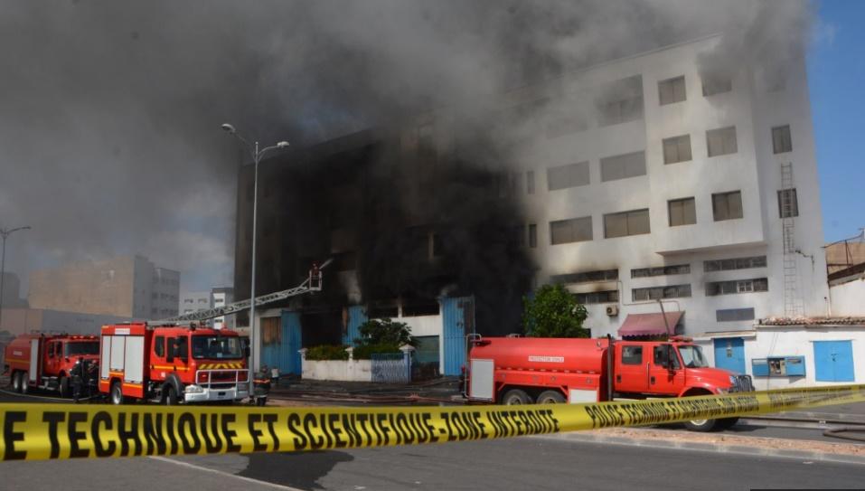 Incendie dans un entrepôt de produits sanitaires et alimentaires à Casablanca