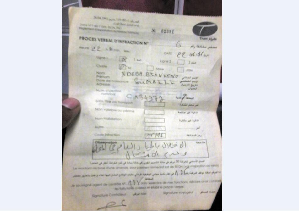 """Le contrôleur inquisiteur : Un usager du tramway de Rabat arbitrairement verbalisé pour """"atteinte à la pudeur"""""""