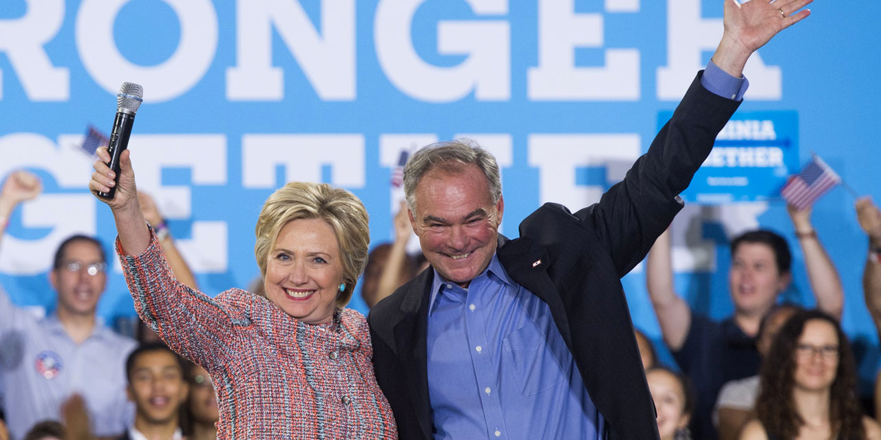 Hillary Clinton fait un choix de raison  avec Tim Kaine en tant que colistier