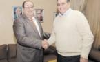 Driss Lachguar reçoit Aziz Akhennouch au siège de l'USFP