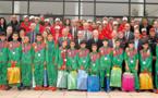Cérémonie en l'honneur des sélections scolaires de cross-country et de football