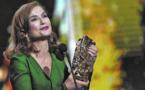 Isabelle  Huppert, meilleure  actrice aux Césars