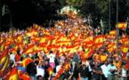 Des milliers de partisans de l'unité  espagnole dans les rues de Barcelone
