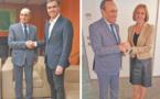 Habib El Malki s'entretient avec les secrétaires généraux du PSOE et du PP espagnols