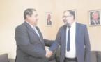 Driss Lachguar reçoit le maire de la ville d'Al-Khalil