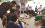 Exposition de dessins d'enfants à Oujda
