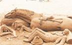 La sculpture sur sable s'invite au Festival ''Patrimoine et musiques du monde''