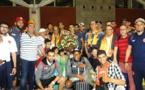 Les joueurs de la RSB accueillis en héros à l'aéroport d'Oujda-Angad