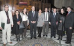 Habib El Malki reçoit Maria Del Carmen Bautista Peláez