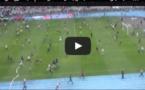 Scènes de hooliganisme à Tanger au Stade Ibn Batouta