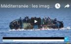 Méditerranée : les images impressionnantes d'un bateau surpeuplé qui chavire au large de la Libye