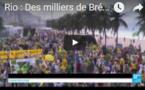 Rio : Des milliers de Brésiliens manifestent pour la destitution définitive de Dilma Rousseff