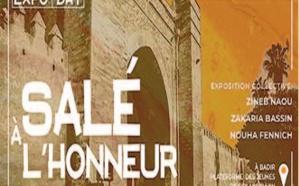 Vernissage à Salé d' une exposition collective d' art contemporain autour du patrimoine marocain