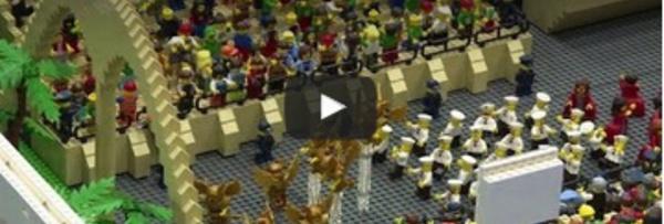 Une maquette de Rio entièrement faite en Lego