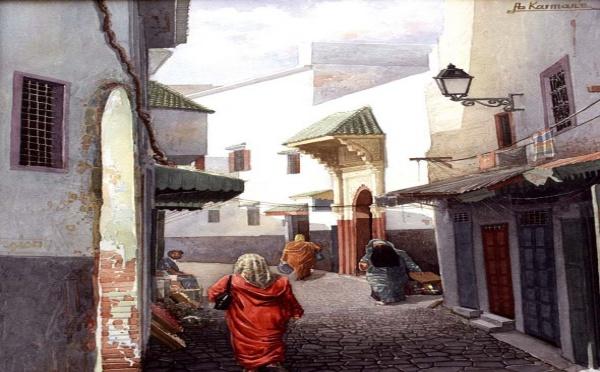 Exposition d'Abdelfettah Karmane à la Galerie d'art Lawrence-Arnott à Marrakech