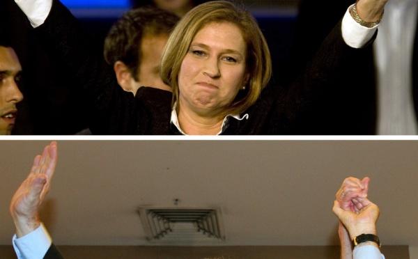 Le Kadima devance le Likoud d'un seul siège : Livni et Netanyahu crient victoire