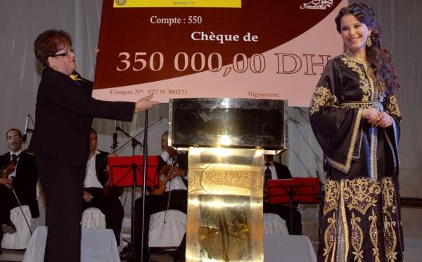 La soirée musicale a permis de récolter 350.000 dh