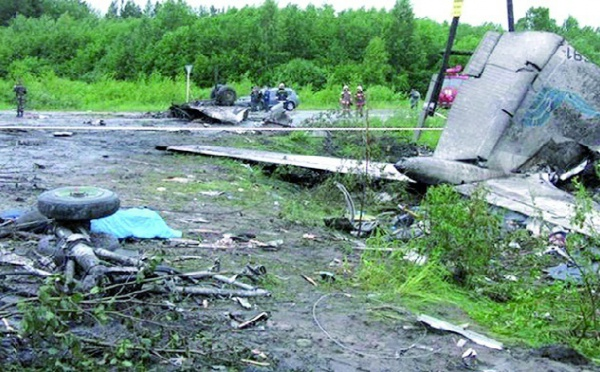 44 morts dans le crash d'un Tupolev sur une route en Russie