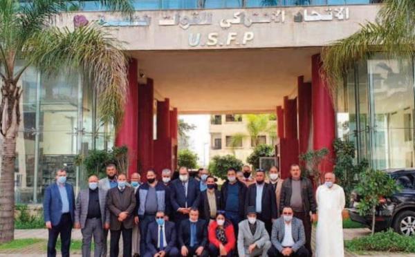 Driss Lachguar reçoit des présidents de communes, des élus locaux et des membres qui ont rejoint l'USFP