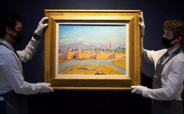 La toile de Churchill représentant la mosquée Koutoubia adjugée à 7 millions de livres sterling