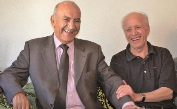 Visite de Si Youssoufi et  Oualalou  à  Mohamed Abrouk