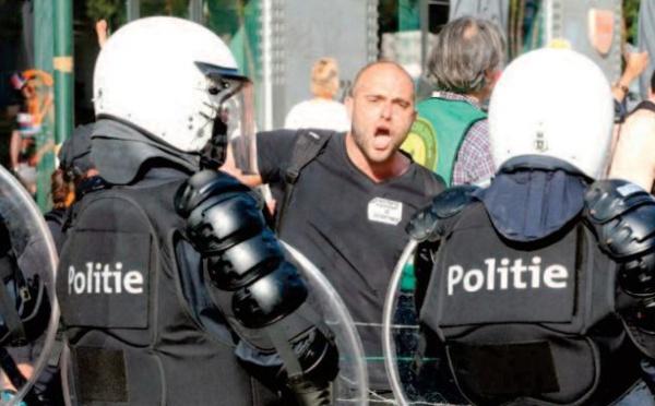 Nouvelle manifestation contre les restrictions anti-Covid à Bruxelles
