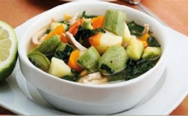 Recette : Soupe aux légumes et poulet