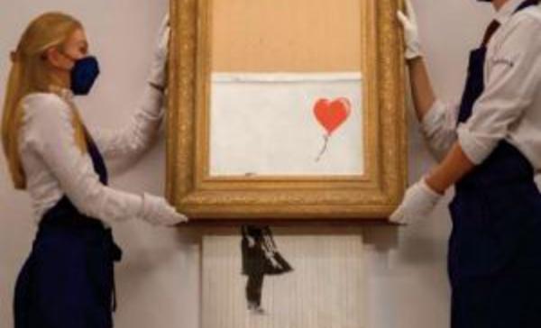 """""""La fille au Ballon """", célébrissime Banksy en lambeaux de retour sous le marteau"""