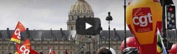 Manifestation contre la réforme du travail en France