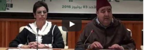Driss Lachguar présidant les travaux de la journée d'étude sur le climat et les questions environnementales