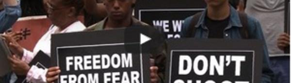 Rassemblement à New York pour le mouvement Black Lives Matter