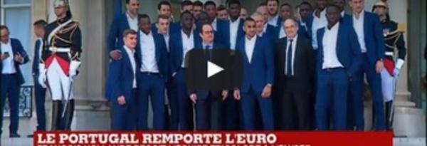 L'équipe de France reçue à l'Élysée après sa défaite en finale EURO-2016