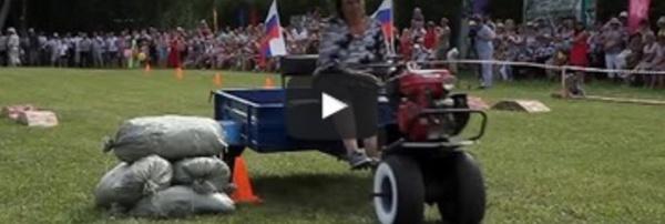 Le lancer de bouses de vaches séchées à son festival dans l'Oural en Russie
