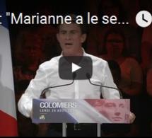 """Valls: """"Marianne a le sein nu, elle n'est pas voilée parce qu'elle est libre"""""""