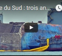 Corée du Sud : trois ans après son naufrage, le ferry Sewol ramené au port