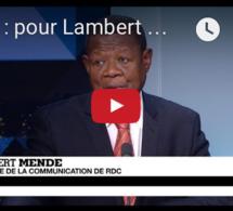 Journal de l'Afrique :  RDC, pour Lambert Mende, les désaccords de l'opposition sont à l'origine du blocage politique