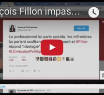 L'œil des médias François Fillon impassible face à la détresse des aide-soignantes
