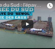 """Corée du Sud : l'épave du """"Sewol"""" sortie des eaux"""