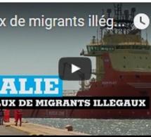 Afflux de migrants illégaux en ITALIE