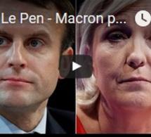 Duel Le Pen - Macron pour le second tour de la présidentielle française