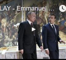 Emmanuel Macron et Vladimir Poutine au Château de Versailles