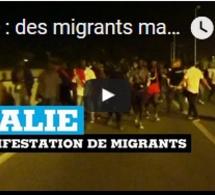 Italie : des migrants manifestent à Vintimille