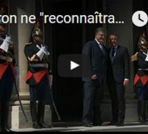"""Macron ne """"reconnaîtra pas l'annexion de la Crimée"""""""