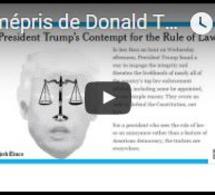 """Revue de presse : """"Le mépris de Donald Trump envers l'État de droit"""""""
