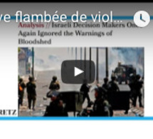 "Revue de Presse : ""Grave flambée de violences en Israël : qui est responsable?"""