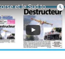"""Revue de presse française : """"La Corse et le Sud touchés par les flammes"""""""