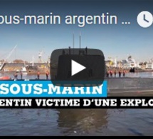 Le sous-marin argentin victime d'une explosion