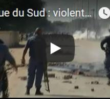 Afrique du Sud : violentes manifestations à Mahikeng